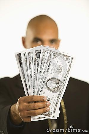 Man with money.