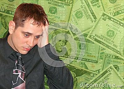 Man with Money Worries