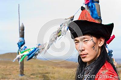 Man in Mongolian costume