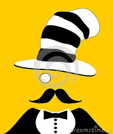 Man with monocle and funny hat