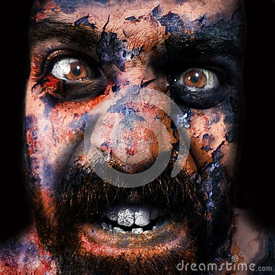 Man Monstrous Graphics Processing Royalty Free Stock Photo - Image: 16287245