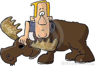 Man in a Moose Costume