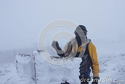 Man On Mount Washington