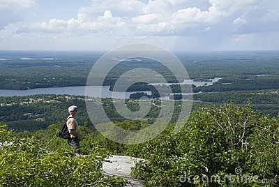 Man in the Mountains of northern Ontario