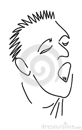 Man with mouth open