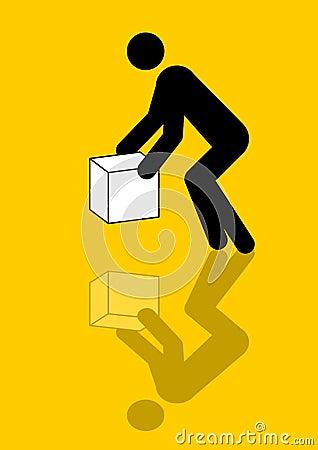 Man moving box graphic