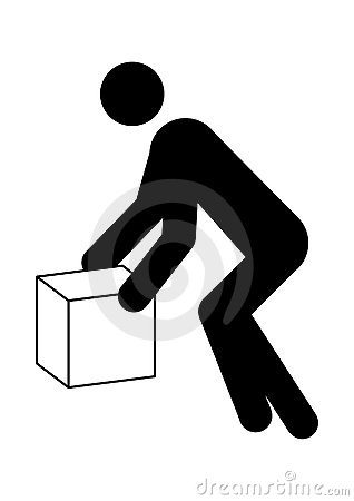 Man moving box graphic