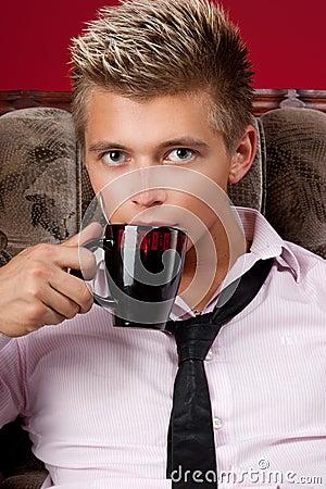A man with a mug