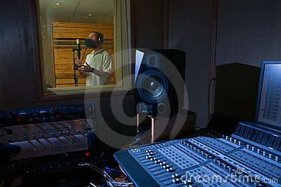 Man in the music studio