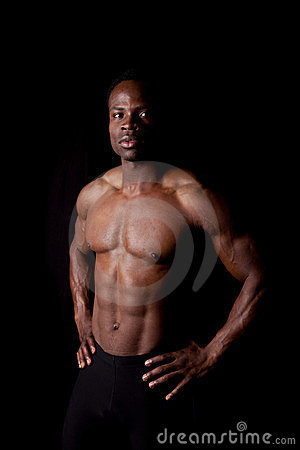 Man no shirt