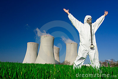 Man at nuclear power plant