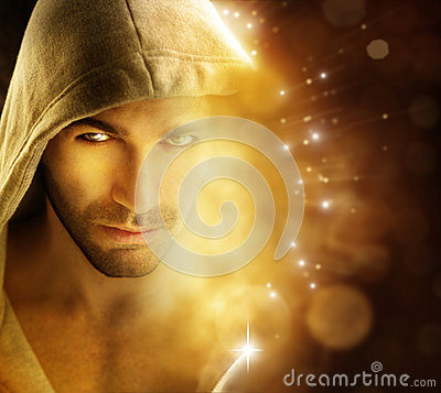 Free Man Of Light Royalty Free Stock Photo - 27734365