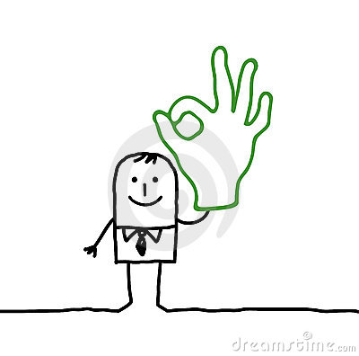 Free Man & OK Hand Sign Royalty Free Stock Photography - 18639187
