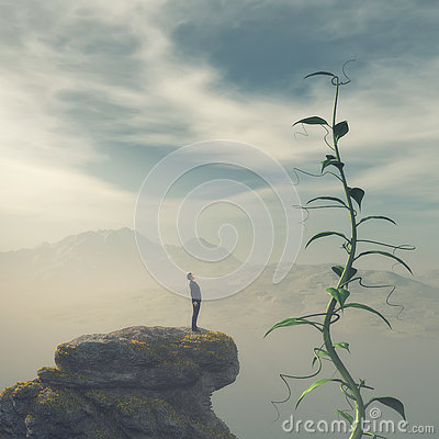 Free Man On The Edge Of A Cliff Royalty Free Stock Images - 78403339
