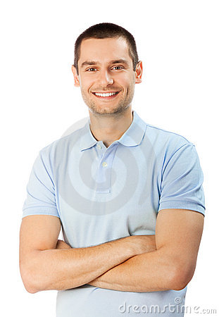 Free Man On White Stock Images - 14903934