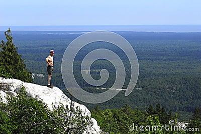 Man Overlooking Killarney Provincial Park