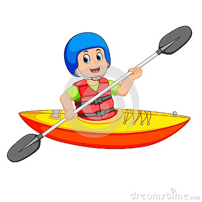 Free Man Paddling In A Kayak Stock Photos - 130424753