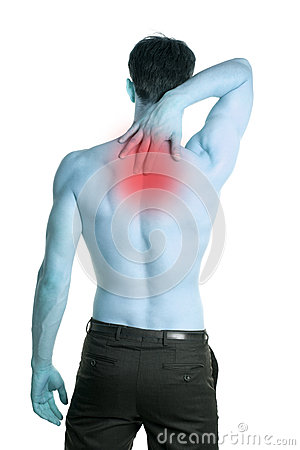 Man with pain in the neck