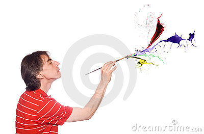 Man with a paint brush