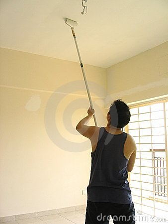 Man Painting Ceiling