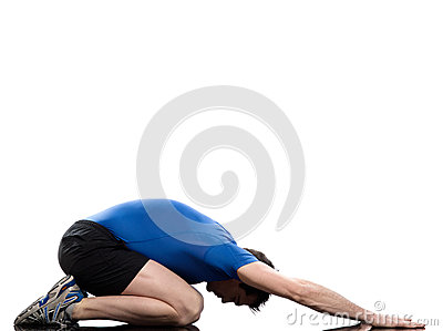 Man paschimottanasana yoga pose stretching posture