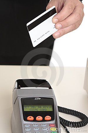 Man paying with card