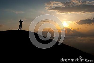 Man at the peak