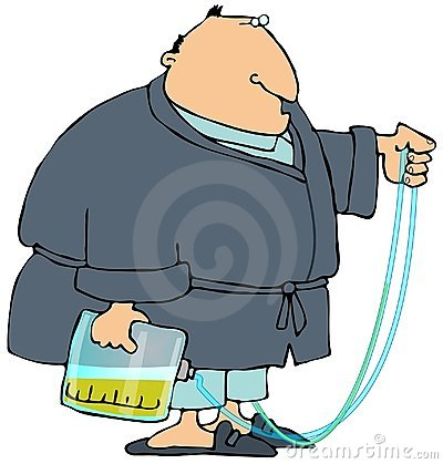 Man With A Pee Bag