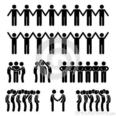 Man People United Unity Community Stick Figure Pic