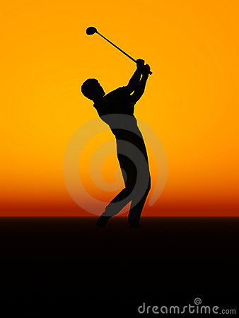 A man performing a golf swing.