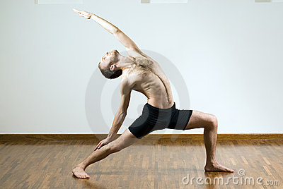 Man Performing Yoga - Horizontal