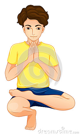 A man performing yoga