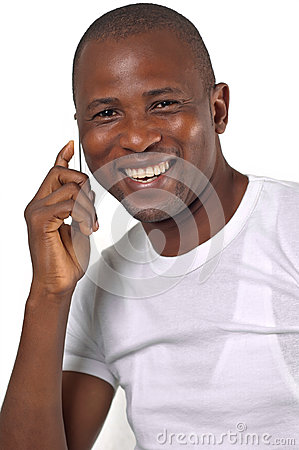 Man talking on phone