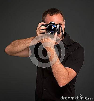 Man photo shooting