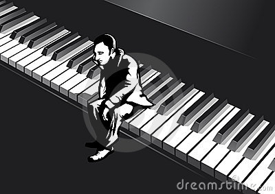 Man on the piano