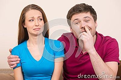 Man picking nose.