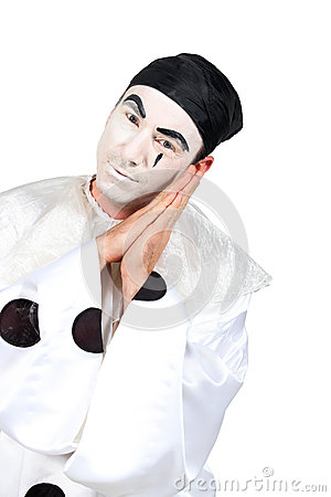Man with Pierrot costume