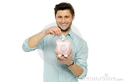 Man with piggy bank