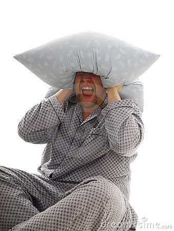 Man with pillow
