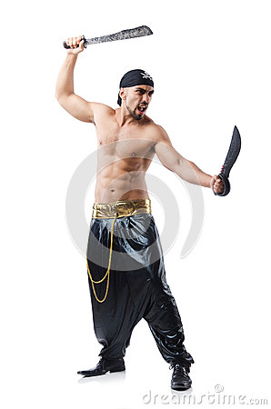 Man in pirate costume