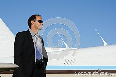Man, plane