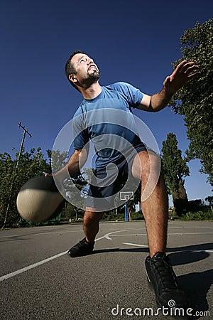 Man play basketball