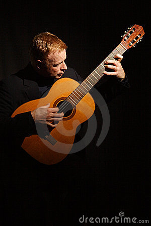 Free Man Playing A Guitar Stock Photography - 1652182