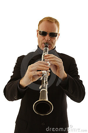 Free Man Playing Clarinet Royalty Free Stock Photos - 1652058