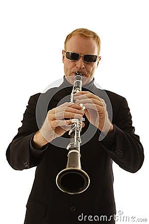 Man playing clarinet