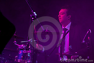 Man Playing the Drums at the Vienna Ball Editorial Photography
