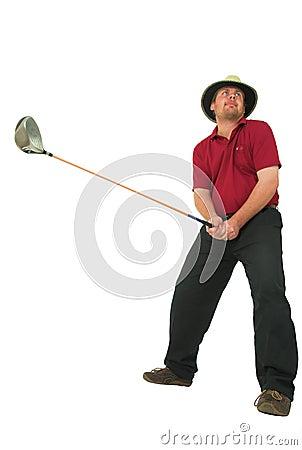 Man playing golf #1