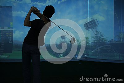 Man playing at golf course Editorial Photo