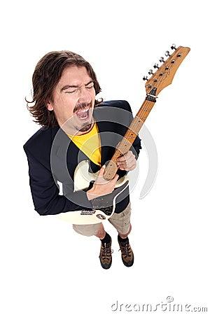 Free Man Playing Guitar Royalty Free Stock Photography - 6571327