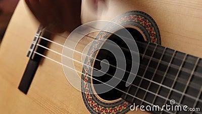 Man playing guitar stock video